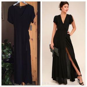 NWT Lulu's Heart of Marigold Wrap Maxi Dress, L